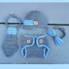Mix and match Baby boy photo prop. newborn gift by BeautyOfCrochet, $17.00