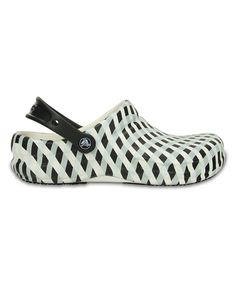 Take a look at this White & Black Gingham Bistro Clog - Unisex today!