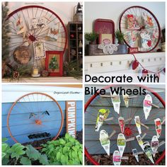 Decorating with Bicycle Wheels is Fun!