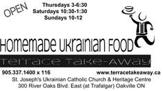Enjoy authentic homemade Ukrainian Food - all day -  HOT ready to eat! Take some home! BBQ on the Terrace - Terrace Beer Garden.