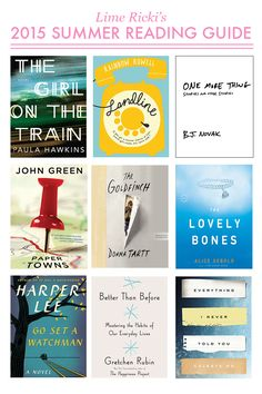 Putting all of these on my reading list for summer!