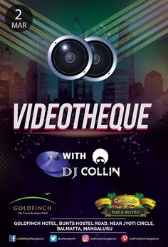 Find your perfect escape from the busy life this Thursday at our Videotheque party that will lighten your week stress up @ Café Mojo Mangaluru. #Party #Mangaluru #NightLife #NightOut #Enjoy #Pub #NightClub  #Music #BeerDrink.