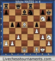 chess puzzles white mates in four