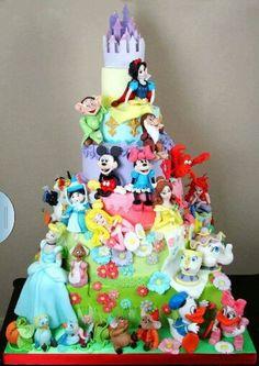 Disney Characters Cake ... Busy busy busy FROM: http://media-cache-ec0.pinimg.com/originals/6e/ff/81/6eff81972997b7c25a97db4c71ae6c00.jpg