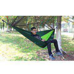 Sports & Entertainment Yingtouman Sleeping Bed Parachute Nylon Outdoor Camping Hammocks Portable Hammock Swing Bed With Mosquito Net Sleeping Hammock