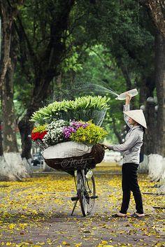 mobile flower bike
