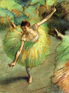 Edgar Degas. Dancer Tilting (1883).