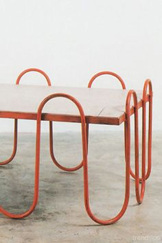 Iron and Wood Side Table | Jean Royère