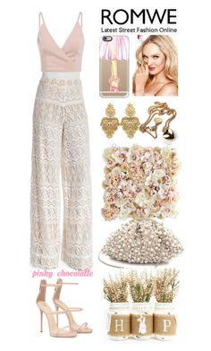 """""""ROMWE - Khaki Slip V Neck Cami Top: 18/05/16"""" by pinky-chocolatte ❤ liked on Polyvore featuring Alice + Olivia, Casetify, Victoria's Secret, WithChic, Pier 1 Imports and Santi"""