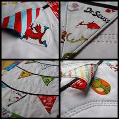 """Cute """"peek-a-boo"""" Dr Seuss quilt. Love this! I might have to make another Seuss quilt :)"""