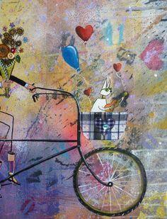Quadro Alemão - Levando as flores para sua amada