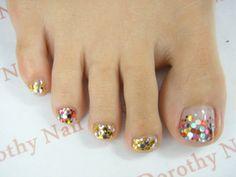 Toenails design Pedicure Ideas, Pedicure Designs, Toe Nail Designs, Manicure And Pedicure, Nail Ideas, Gorgeous Nails, Love Nails, How To Do Nails, Pretty Nails