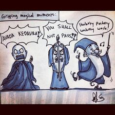 Odds and ends and bric-a-brac! #voldemort #harrypotter #gandalf #lordoftherings #merlin #swordinthestone #dailydrawing (Taken with Instagram)