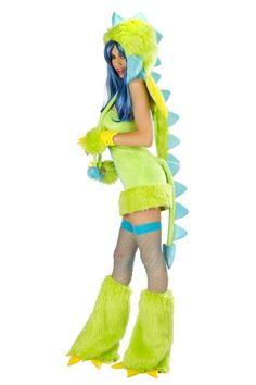 Green Puff Dragon Costume Dress @ Amiclubwear costume Online Store,sexy costume,women's costume,christmas costumes,adult christmas costumes,santa claus costumes,fancy dress costumes,halloween costumes,halloween costume ideas,pirate costume,dance costume,