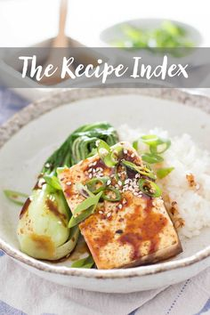 Chopstick Chronicles Recipe Index