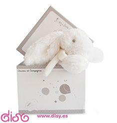 #peluchesparabebes #peluches Peluches para bebes musical - Conejo blanco 20cm www.disy.es