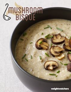 Greek yogurt is the secret ingredient in this creamy and flavorful 5 PointsPlus value Mushroom Bisque!