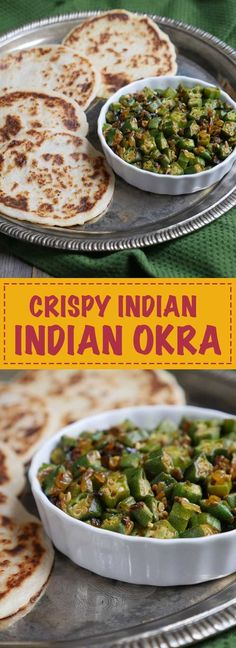 This crispy Indian okra recipe is a popular dish also known as bhindi. It's a tasty way to make and enjoy okra. This recipe has the power to convert okra haters! Indian Okra Recipes, Veg Recipes, Asian Recipes, Cooking Recipes, Healthy Recipes, Indian Vegetable Recipes, Okra Recipes Fried, Easy Cooking, Frozen Okra Recipes