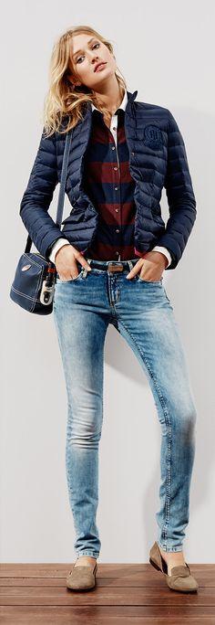 Tommy Hilfiger FW13 Franklin Padded Blazer, Alina Slim Fit Polo, Milan Skinny Jeans, Belynda Loafer, Cassie Crossover