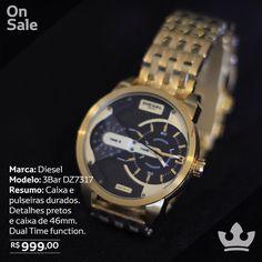 Somos Homens Vip.   Relógios Vip.   Enviamos para todo Brasil!    WhatsApp (51) 9969.6691  (51) 9212.6629  Diesel 3Bar   Caixa e pulseira em Aço dourados. Fundo preto e datalhes em azul. Vidro Cristal.  Função Timer. 46mm   R$ PROMOÇÃO R$ 99900  Seja Vip! #moda #estilos #modamasculina #homem #cool #watches #oscarfreirfe #urban #beleza #vip #store #luxo #oculos #camisa #watch #relogio #rolex #bvlgari #tagheuuer #hublot #omega #breitling #richardmille #piguet #audemars #panerai #uboat #diesel…