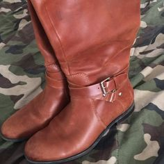 Enzo Wide Calf Riding Boots Sz 8