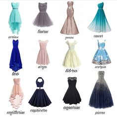 Comment your favorite dress and your zodiac sign! Zodiac Signs Sagittarius, Zodiac Star Signs, Zodiac Horoscope, Aquarius Astrology, Astrology Numerology, Sagittarius Scorpio, Cancer Horoscope, Numerology Chart, Short Prom Dresses