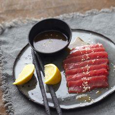 Rezept für Sashimi vom Thunfisch mit Ponzusauce | Küchengötter