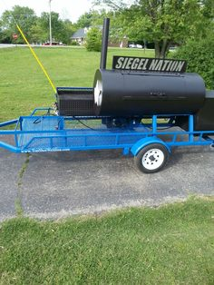 TS-250 Event 30''x96'' Propane fired grill with 30''x60'' smoker. Great for football booster clubs or catering #Smoker #bbq #grill Custom Smokers, Mobile Catering, Fire Grill, Grilling, Bbq Grill, Outdoor Power Equipment, Trailers, Outdoor Decor, Football