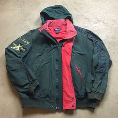 90s VTG NAUTICA J CLASS Sailing CHALLENGE Competition ANORAK Jacket XL Hooded…