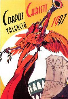 Cartel Corpus Christi Valencia 1997.  Diseño: José Aguilar García.