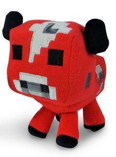 Minecraft Baby Mooshroom Minecraft Animal Plush Series 5 InchRed Cow by Mojang #Mojang