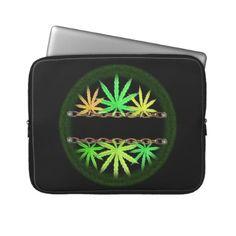Valxart Cannabis template Laptop Sleeve  See more cannabis/marijuana art by Valxart.com at http://zazzle.com/valxartmedicalpot*