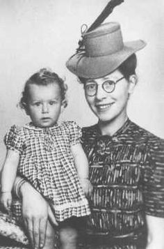 """Semmy Woortman-Glasoog with Lientje, a 9-month-old Jewish girl she hid. Woortman-Glasoog was active in a network which found foster homes, hiding places, and false papers for Jewish children. She was later named """"Righteous Among the Nations."""" Amsterdam, the Netherlands, between 1942 and 1944.  — Gay Block and Malka Drucker"""