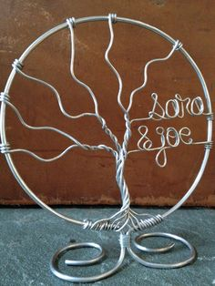 Family Tree Wedding Cake Topper Customized with Names by deliziare, $45.00