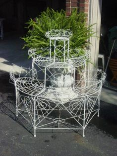 Antique Victorian French Wire Plant Holder by Serenities on Etsy, $650.00