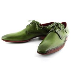 Paul Parkman Men's Ghillie Lacing Side Handsewn Dress Shoes - Green (ID#022-GREEN) #mensdressshoes #dressshoes #shoes #mensfashion #socks #laces #handmade #bestshoes #luxuryshoes #businessshoes #formalshoes #exoticshoes #leathershoes #luxury #luxurylifestyle