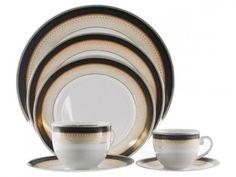 Aparelho de Jantar em Porcelana 42 Peças - Casambiente Oxford com as melhores…