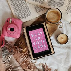 Review: Slay in Your Lane – Erika Joy Books Book Instagram, Story Instagram, Book Flatlay, Girls Bible, Mini Drawings, Manga Books, Kindle, Book Organization, Coffee And Books