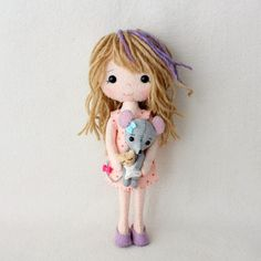 poppet - light skin, brown and purple hair