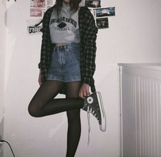 44 Outstanding Grunge Outfits Ideas For Women Teenager Outfits, Girl Outfits, Casual Outfits, Cute Outfits, Fashion Outfits, Fashion Fashion, Hipster Outfits, Gothic Fashion, Fashion Looks