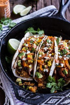 Easy Chicken Fajitas with Cheesy Enchilada Rice - dinner is served!