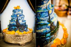 Van Gogh cake. (When Comic-Con speed dating leads to wedded bliss: a nerdy theater celebration)