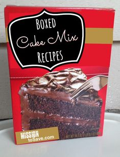 I bet you have one in your pantry right now!  Check out these 50+ Boxed Cake Mix Recipes.  Easy and delicious!