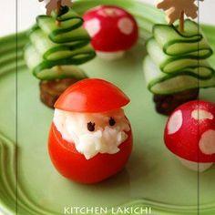 ♡野菜で♪クリスマス♡ちょこっと飾り切り♪+by+lakichiさん+|+レシピブログ+-+料理ブログのレシピ満載! +こんにちは  先日の+チョコベジアカデミックレストラン  でちょこっと紹介させて頂いた  めっちゃ簡単な野菜の飾り切りです  今日はクリスマスなので、クリスマスらしい写真だけブログに置いておこうっと...