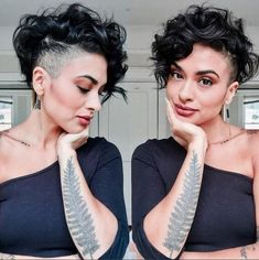 Today we have the most stylish 86 Cute Short Pixie Haircuts. We claim that you have never seen such elegant and eye-catching short hairstyles before. Pixie haircut, of course, offers a lot of options for the hair of the ladies'… Continue Reading → Undercut Curly Hair, Shaved Undercut, Haircuts For Curly Hair, Curly Hair Cuts, Undercut Hairstyles, Short Hair Cuts, Curly Hair Styles, Undercut Pixie, Curly Hair Shaved Side