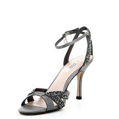Grise Femme Lescahiersdalter Chaussure Sandale Talon CedxBor