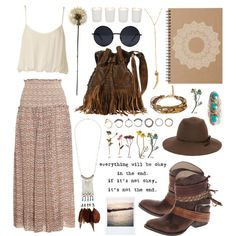 Here and there, boho, bohemian, fashion, ootd, outfit, summer, hippie, free spirit, polyvore, moodboard
