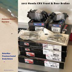 #Akebono Pro Act Premium Brake Pad Sets  #Promax Rotormax Premium Coated Brake Rotors   #brakes #honda #crv #premium #carparts #toronto #aftermarket #ahonautoparts