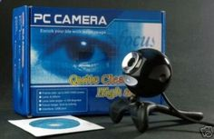 NEW in the Box! 6 Count (3-Black  3 Silver), Sharp! PC Web Camera, installer CD w/Adjustable Stand