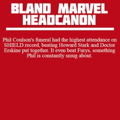 One good thing about being brought back to life is, you can be smug about having the best funeral attendance. Oh, Coulson...